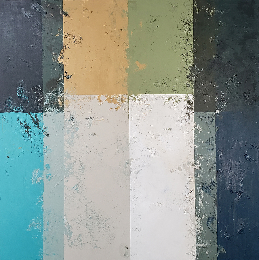 Abstract Greens 150x150cm