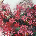 Flowers Red 100x100cm 03