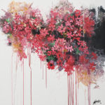Flowers Red 100x100cm low