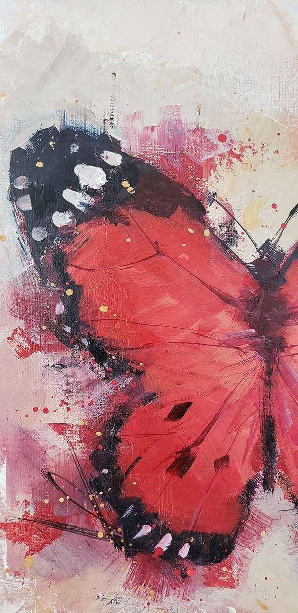 Red Butterfly 40x40cm 02