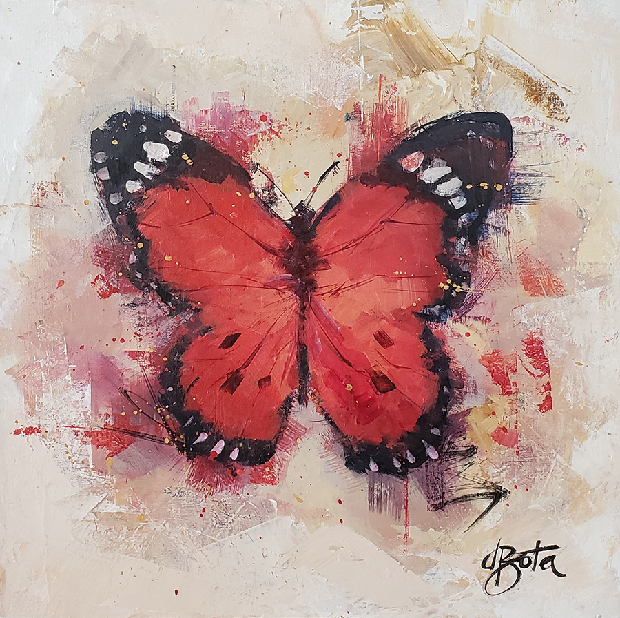 Red Butterfly 40x40cm low